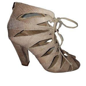 Delman Caged Heels
